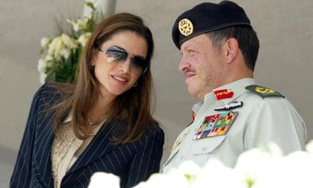 Jordan's King Abdullah II with his wife Queen Rania