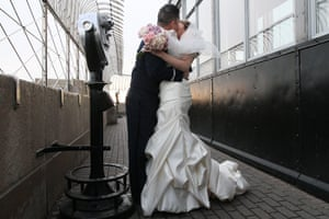 Valentine's Celebrations: A couple are wed at the Empire State Building in New York
