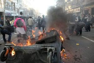 iran protests: anti-government protest in Tehran, Iran