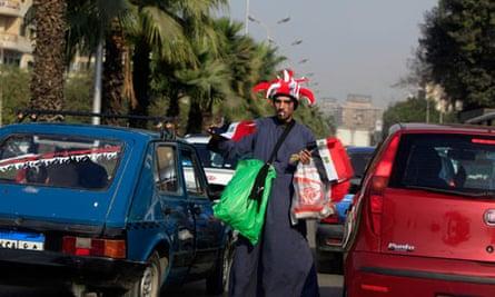 Egyptian flag vendor