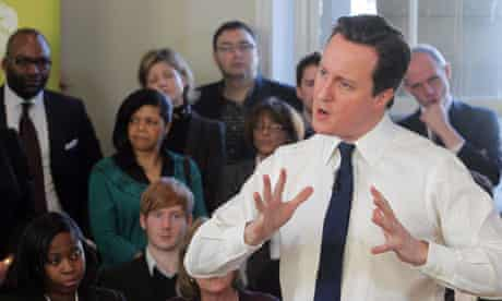 Prime Minister David Cameron Meets Social Entrepreneurs In Big Society Event