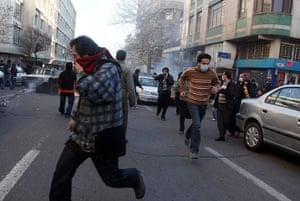 Iran protests: Demonstration in Tehran