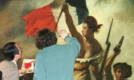 Examining Delacroix's painting Liberty Leading the People