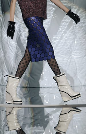 New York Fashion Week: A model walks the runway at the Marc Jacobs show