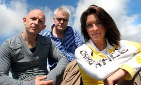 Channel 5's Gadget Show presenters Jason Bradbury, Jon Bentley and Suzi Perry