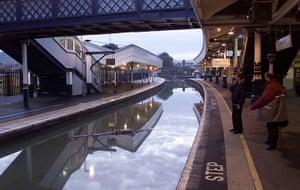 Floods 2000: WEATHER Floods railway