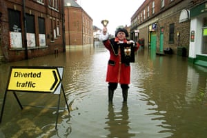 Floods 2000: JOHN REDPATH IN THE FLOODED STREETS OF YORK