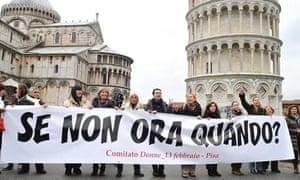italy women protest pisa