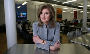 Arianna Huffington in her New York office.