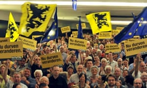 Flemish national party supporters in Ghent, Belgium, 2010