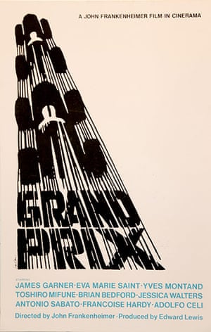 Saul Bass: Grand Prix poster