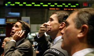 New York Stock Exchange traders during the 2008 financial crisis