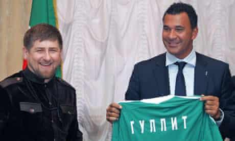 Ramzan Kadyrov and Ruud Gullit 9/2/2011