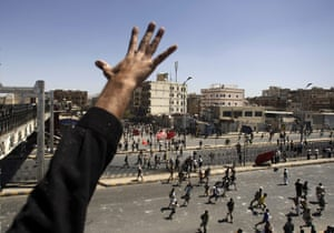 Yemen: A government supporter