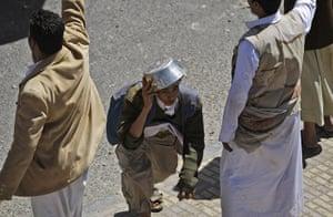 Yemen: A supporter of the Yemeni government