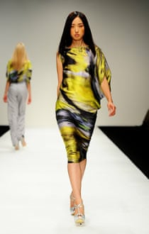 A model in Maria Grachvogel's show at last year's London fashion week.