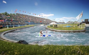 2012 Venues: Updated artist's impression image of the 2012 Olympic White Water Venue