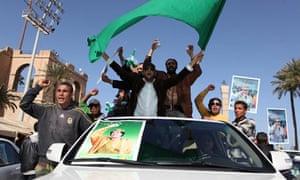Libyan Gaddafi supporters