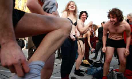 People in Ghent strip off at a party in ironic celebration of Belgium's lack of government