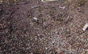 Egypt Demonstrations: Egyptian pro-democracy supporters gather in Tahrir Square in Cairo