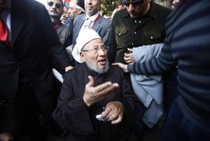 Egypt Demonstrations: Egyptian Sheikh Yousef al-Qaradawi will lead Friday prayers, Tahrir Square
