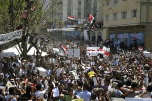 Yemen Protests: Anti-government protesters take part in a demonstration in Yemen