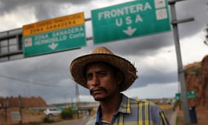 A Mexican leaves the border after being deported from the US for entering illegally.
