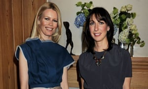 Samantha Cameron and Claudia Shiffer