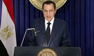 Egypt's president Hosni Mubarak