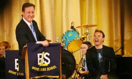 David Cameron and Take That's Gary Barlow