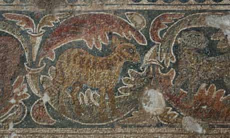 Byzantine church mosaics israel