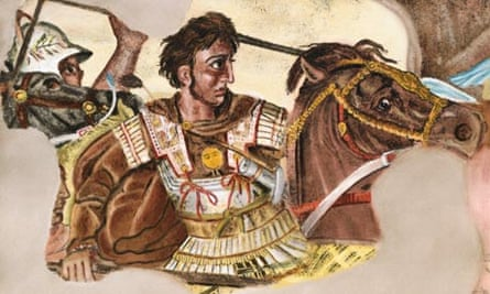 Alexander the Great fighting in the Battle of Issus, c310BC