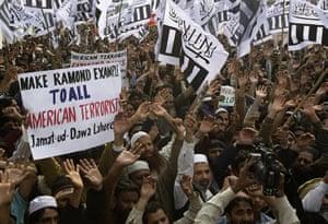 raymond davis: Pakistani religious party Jamaat-u-Dawa rally to condemn Raymond Davis
