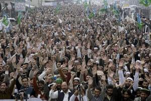 raymond davis: Jamat-e-Islami  supporters in pakistan