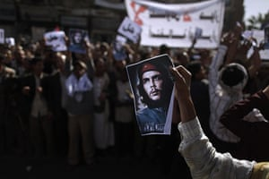 middle east unrest: A Yemeni anti-government demonstrator