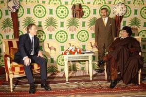 Muammar Gaddafi : March 2004: British Prime Minister Tony Blair meets Gaddafi
