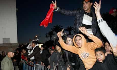 Moroccans demonstrate in Casablanca 20/02/2011