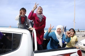 middle east unrest: protesters in Benghazi, Libya