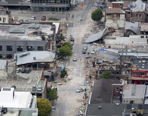 new zealand earthquake: Debris litters central Christchurch