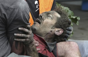 new zealand earthquake: A man pulled from the rubble