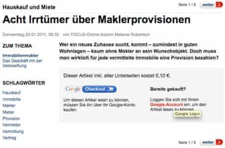 Focus Online Google One Pass