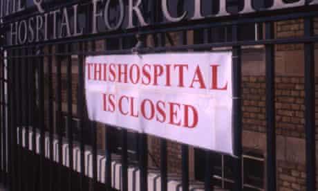 Closure of The Queen Elizabeth Hospital for Children London UK