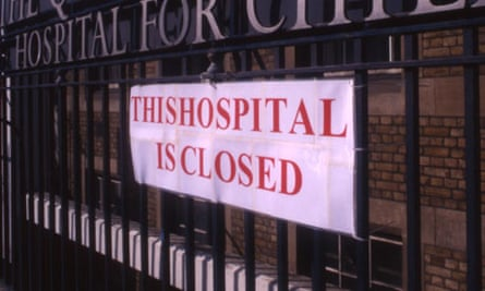 Closure of The Queen Elizabeth Hospital for Children London UK