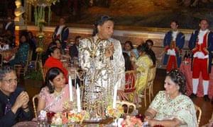 Lakshmi Mittal at his daughter's wedding, Versailles 22/6/2004