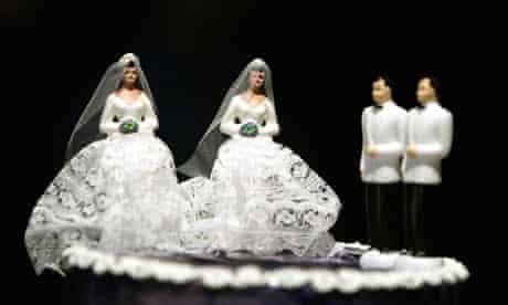 Gay wedding cake figures