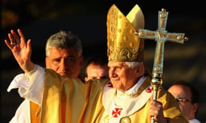 Pope Benedict XVI on a state visit to the UK