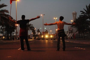 from the agencies: Anti-government protesters  in bahrain
