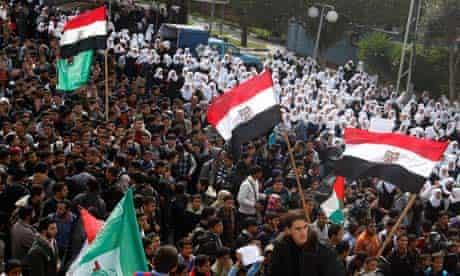 Palestinians celebrate Mubarak's resignation