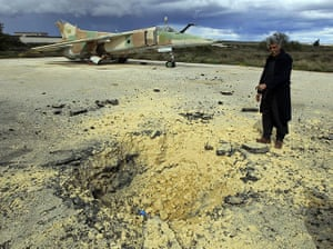 libya : the military airport in Al Abrak