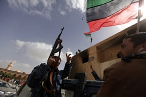 libya unrest: Members of Libya's internal security forces join anti-government protests